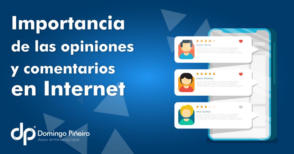 opiniones y comentarios en internet