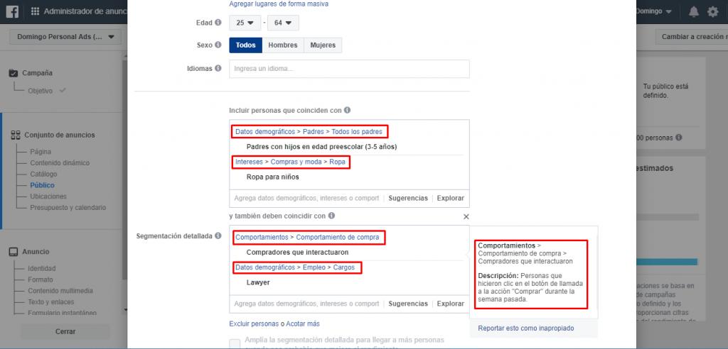 segmentacion de publico objetivo en facebook ads